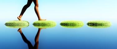 Hopping νησιών ήρεμο νερό Στοκ φωτογραφία με δικαίωμα ελεύθερης χρήσης