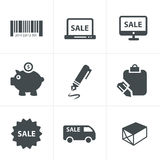 Hopping icons Vector Royalty Free Stock Images