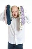 Affärsman som väljer ties Royaltyfri Foto