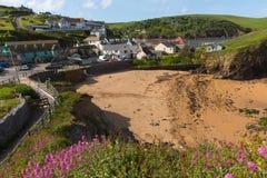 Hoppliten vik södra Devon England UK nära Kingsbridge och Thurlstone Arkivfoto