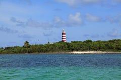 Hoppstad LighthouseAbacos, Bahamas Arkivbilder