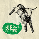 Hoppy Easter! - Jumpy Easter card Royalty Free Stock Images