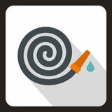 Hoprullad symbol för trädgårds- slang, lägenhetstil vektor illustrationer