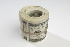 Hoprullade pengar Royaltyfria Bilder