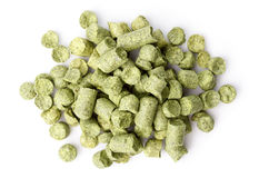 Hops pellets isolated on white Royalty Free Stock Image
