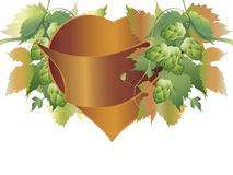 Hops plant and heart Royalty Free Stock Photo