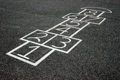 παιχνίδι hopscotch Στοκ Εικόνες
