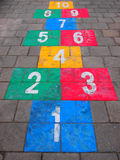 hopscotch Fotografie Stock