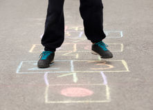 hopscotch Royaltyfri Foto
