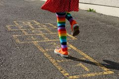 Hopscotch - back Stock Photography