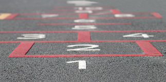 Hopscotch background Stock Photography