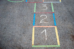 Hopscotch course Stock Photography