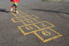 Hopscotch - front Stock Photography