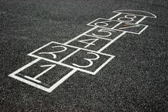 Hopscotch Game Stock Images