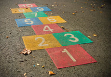 Hopscotch game Stock Photography