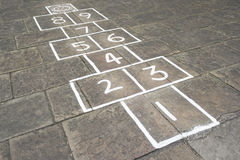 Hopscotch Game Royalty Free Stock Images