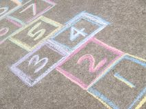Hopscotch game background stock image