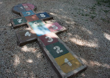 Hopscotch game in the park Stock Photography