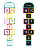 Hopscotch game for your design. Vector illustration Stock Photography