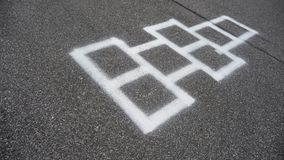 Hopscotch gamea Royalty Free Stock Photography
