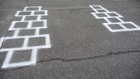 Hopscotch gamea Stock Photo