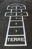Hopscotch on ground Royalty Free Stock Image