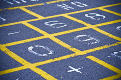 Hopscotch Pattern On School Playground Royalty Free Stock Image