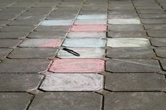 Hopscotch - popular street game Stock Image