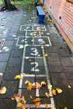 Hopscotch on the schoolyard Stock Photography