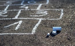 Hopscotch street game Stock Photography