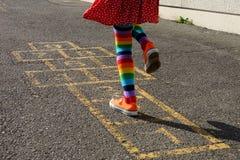 Hopscotch - traseiro Fotografia de Stock