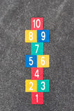 Hopscotch vintage street game for children Stock Photo
