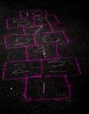hopscotch vuoto della scheda Fotografie Stock Libere da Diritti