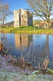 Hopton Castle frost Royalty Free Stock Image