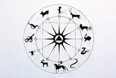 Horóscopo de China Fotografía de archivo libre de regalías