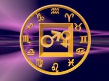 Horóscopo, el zodiaco. Imagen de archivo libre de regalías