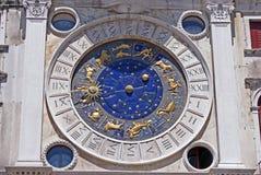 Horóscopo en bóveda del marco de san en Venecia Imagenes de archivo