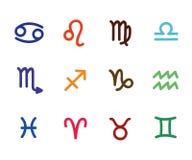 Horóscopo estilizado do sinal do esboço colorido do zodíaco Imagem de Stock Royalty Free