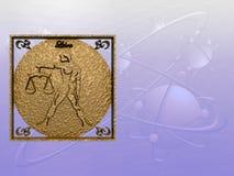 Horóscopo, libra. stock de ilustración