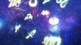 Horóscopos en la galaxia 1 stock de ilustración