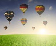 Hor air baloon. During a beautiful morning Stock Photos