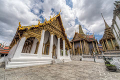 Hor Phra Monthian Dharma Temple and Prasat Phra  Dhepbidorn Stock Images