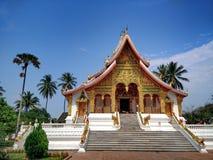 Hor Prabang (Prabang Hall), den viktigaste kloster i Luang Prabang, stad för UNESCOvärldsarv, Laos Royaltyfri Fotografi