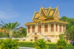 Hor Samran Phirun på Royal Palace i Phnom Penh, Cambodja arkivfoton