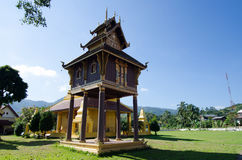 Hor Trai (place for keeping Buddhist texts) Stock Photo