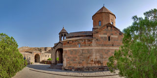 Hor Virap. The Chorus temple Hor Virap in the mountains of Armenia Royalty Free Stock Photo