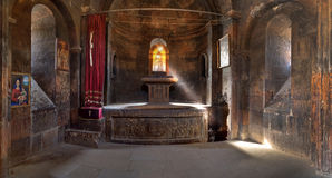 Hor Virap. Interiors of the temple complex Hor Virap in the mountains of Armenia Royalty Free Stock Image