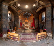 Hor Virap. Interiors of the temple complex Hor Virap in the mountains of Armenia Stock Image