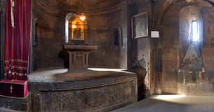 Hor Virap. Interiors of the temple complex Hor Virap in the mountains of Armenia Stock Images