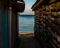 Hora azul de Crepusculo simples fotografia de stock royalty free